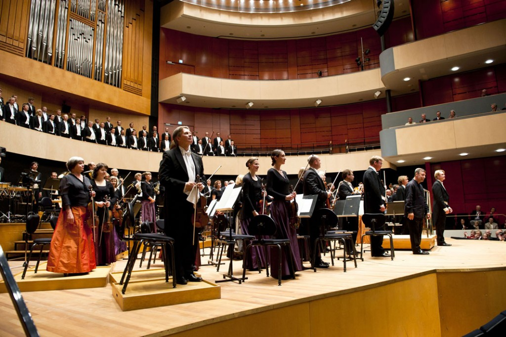 The Lahti Symphony Orchestra in the Sibelius Hall. Photo: © Juha Tanhua