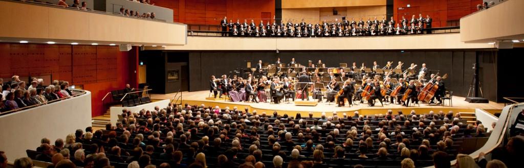 The Lahti Symphony Orchestra in the Sibelius Hall. Photo: © Juha Tanhua
