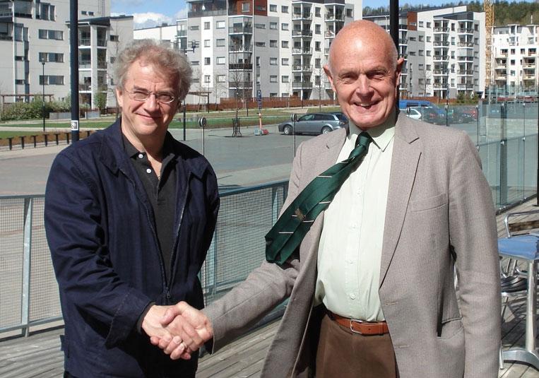 Osmo Väkskä and John Davis in Lahti, 2005