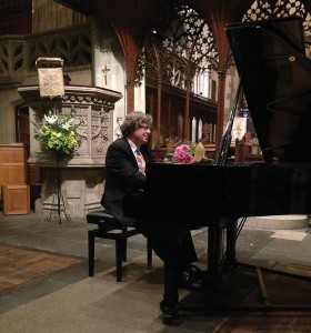 Folke Gräsbeck at Sibelius One's concert in St Martin's Church, Salisbury, 4 November 2015