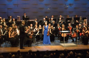 Christel Lee, after a performance of Sibelius's Violin Concerto with the Finnish Radio Symphony Orchestra nad Hannu Lintu at Verkatehdas in Hämeenlinna, 8 December 2015 (Photo: © Leon Chia)