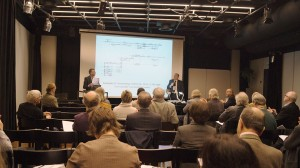 Ron Weidberg and James Hepokoski addressing the Sibelius Conference (photo: © Leon Chia)