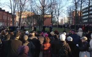 During the Conference, on 8 December, a special ceremony was held at the Sibelius statue in his birth town, Hämeenlinna