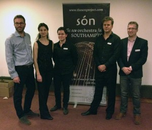 Southampton's new orchestra són (cond. Robin Browning) is inaugurated all-Sibelius concert, 'Sibelius Unwrapped', November 2015
